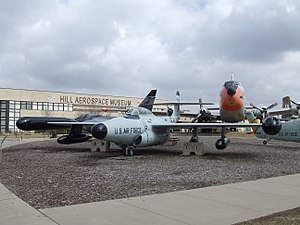 Hill Aerospace Museum - A Northrop F-89H Scorpion in the outdoor air park, in front of the museum