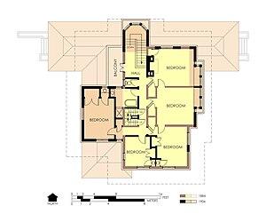 Edward R. Hills House - Second floor plan