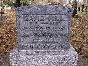 David Hill (Oregon politician) - David Hill Gravemarker