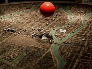 English: The scaled model of Hiroshima City an...