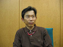 An image of Hiroyuki Takahashi during a 2005 interview.