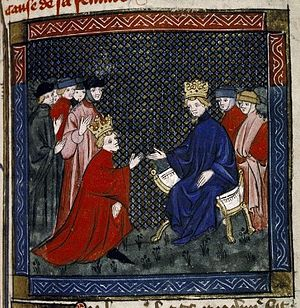 Philip III of Navarre - Philip III of Navarre doing hommage to Philip VI of France for his French lands