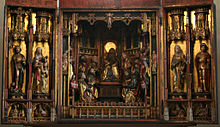 The main  altar of Tallinn's Church of the Holy Ghost, made by Bernt Notke in 1483.