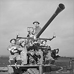 Home Guard soldiers manning a Bofors gun, 16 November 1943. H34424.jpg