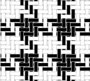Houndstooth - Image: Houndstooth check weave