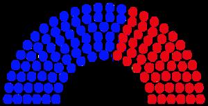 Chambre des représentants diagramme 2017 État de Illinois.png