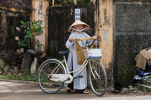 Hue Vietnam Nun-with-bicycle-01