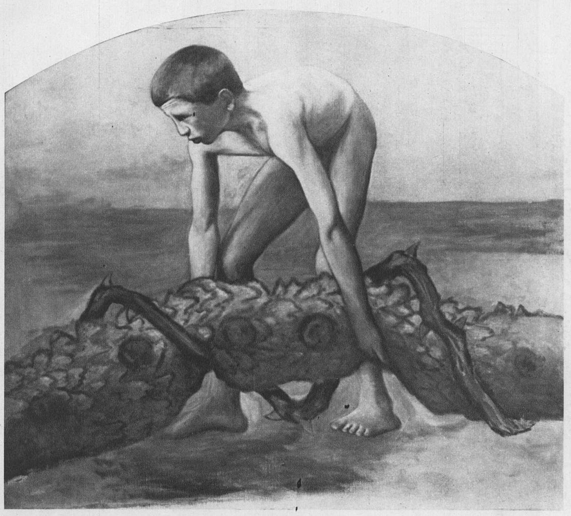 naked women swimming with snakes