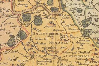Hundred of Elmbridge - Elmbridge is in the north of the hundreds of Surrey