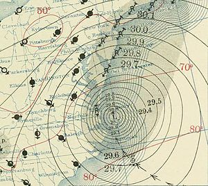 1936 Atlantic hurricane season - Image: Hurricane 13 September 18, 1936 map