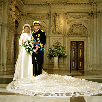 Queen Máxima of the Netherlands - The royal wedding, February 2002