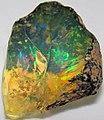 Hydrophane opal (precious opal) immersed in water (Tertiary; Ethiopia) 2 (32588769091).jpg