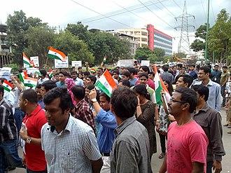 Anna Hazare - India Against Corruption campaign in Whitefield, Bangalore.