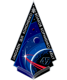 Description de l'image ISS Expedition 45 Patch.png.