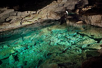 Kungur Ice Cave - Image: Ice cave lake