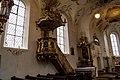Iffeldorf, St. Vitus, Kanzel, linker Seitenaltar 2015-10.jpg