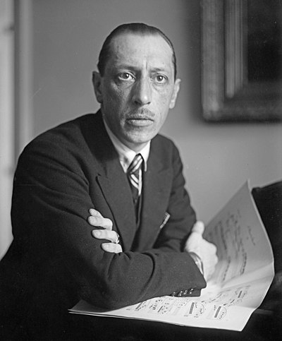 Igor Stravinsky, Russian-born composer