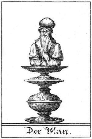 """Mann (chess) - Illustration of the chess piece """"Man"""" by Gustav Selenus from the book Das Schach-Oder Konig-Spiel (1616)"""