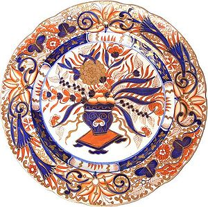 Royal Crown Derby - Crown Derby Imari plate, 19th century