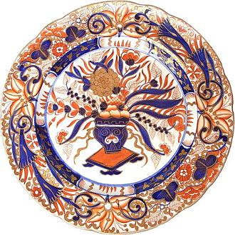 Royal Crown Derby - Crown Derby Imari plate, 19th century