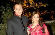 Imran Khan and Avantika Malik pose for the camera.