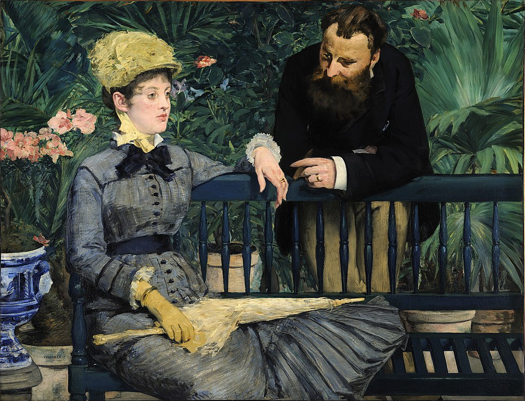 """In the Conservatory"" by Édouard Manet"