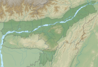 India Assam relief map.png