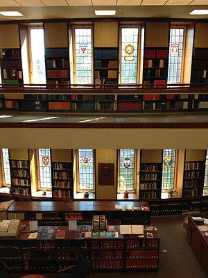 Osler Library of the History of Medicine - Interior view from the second floor of the Wellcome Camera