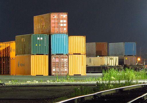 Intermodal containers in Etobicoke, Canada
