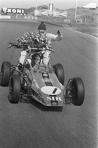 Arie Luyendyk - Arie driving his fathers car after his father, Jaap, won the European Formula Vee championship in 1972.