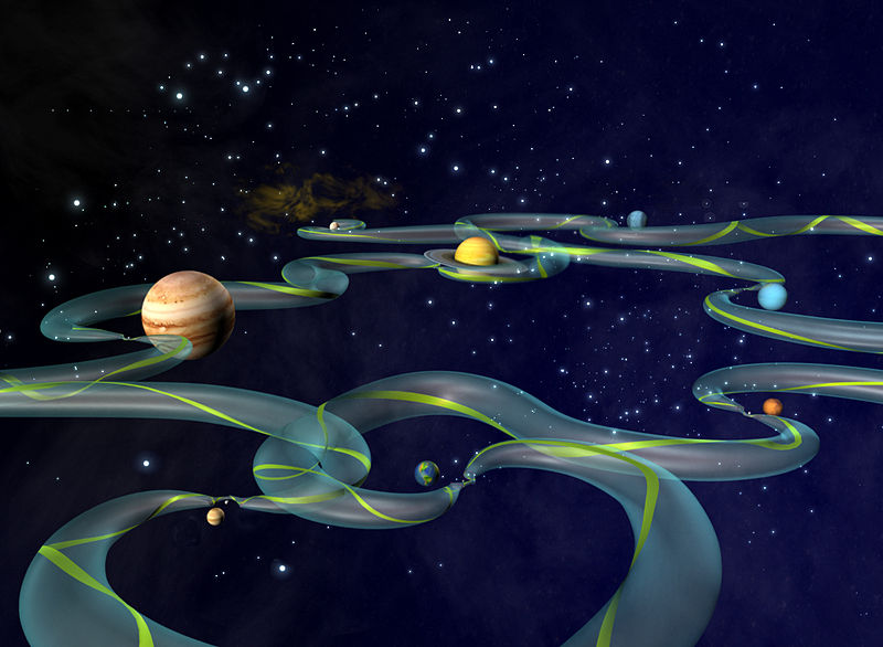 Interplanetary Super Highway - Artist's impression - NASA