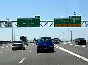 Interstate 10 - The end of I-17 at I-10 in Phoenix
