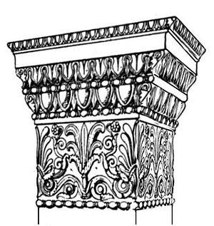 Anta capital - Image: Ionic anta capital at the Erechtheum
