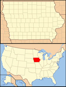 Hampton is located in Iowa
