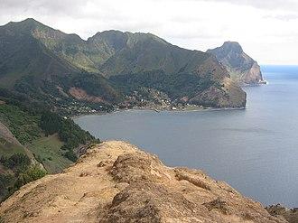 Robinson Crusoe Island - Town of San Juan Bautista, on the north coast at Cumberland Bay