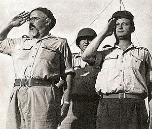 Yigal Allon -  Yitzhak Sadeh (left) and Yigal Allon, 1948