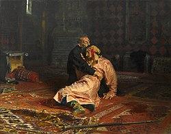 Ilya Repin: Ivan the Terrible and his son Ivan on November 16, 1581