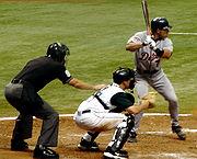 Ivan Rodriguez at bat