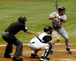 Iván Rodríguez at bat on July 11, 2005