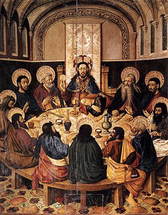 Jacomart - The Last Supper, c. 1450s, from the Cathedral of Segorbe.