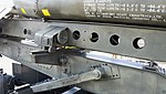 JASDF Nike-J missile launcher handling rail left rear view at Hamamatsu Air Base Publication Center November 24, 2014.jpg