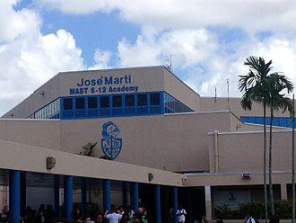 José Martí MAST 6-12 Academy - Image: JMMAST 6 12 Entrance
