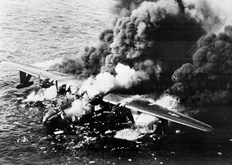 JRM Marshall Mars burning 5Apr1950
