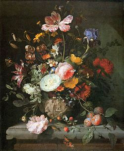 Jacob van Walscapelle - Flowers in a Stone Vase - WGA25433.jpg
