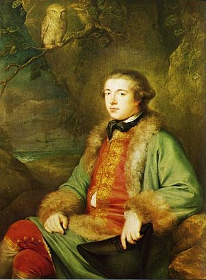 Portrait of James Boswell (1740-1795) at twent...