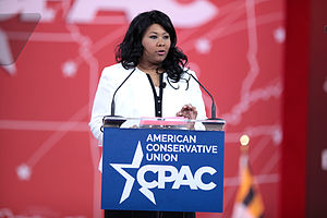 Jamila Bey - Jamila Bey speaking at the CPAC in Baltimore in 2015