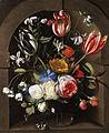 Jan Anton van der Baren - Flower still life in a stone niche.jpg