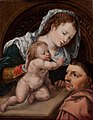 Jan Gossaert (Mabuse) - Virgin and Child with a Patron - KMS1859 - Statens Museum for Kunst.jpg