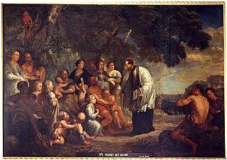 Saint Francis Xavier preaching the Faith