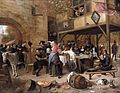 Jan Steen - Feast of the Chamber of Rhetoricians near a Town-Gate - WGA21727.jpg